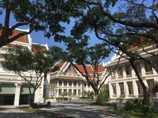 Left: C.U. Auditorium / Right: Maha Chulalongkorn Building